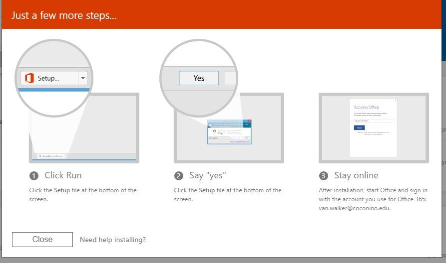 Office 365 - Steps on how to install Office