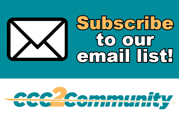 Subscribe to our mailing list - CCC2Community
