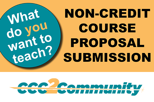 What do you want to teach? Non-Credit Course Proposal Logo